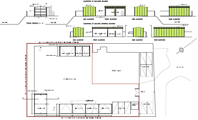 waste management site taffs well beacon architectural services brecon wales